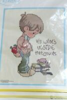 Precious Moments Cross Stitch Kit IT'S WHATS INSIDE THAT COUNTS VTG 1979 New D4