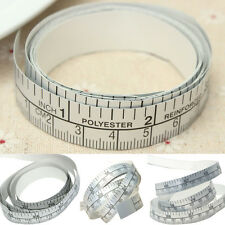 Silver Self Adhesive Measuring Tape Ruler Sticker For Sewing .Machine Tool#