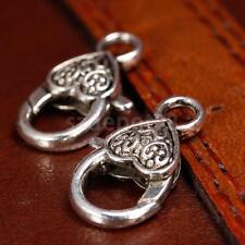 20 Antique Tibetan Silver Heart Lobster Lock Clasps Jewelry Findings Craft