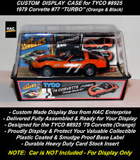"Custom Display Case: TYCO 8925  '79 CORVETTE ""TURBO"" Orange & Black #77"
