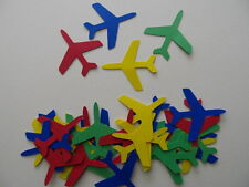 30 Airplane Cardstock Diecuts, Primary Colours, Travel Decorations, Scrapbooking