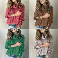 Cardigans Women's US Tops Long Knitted Sleeve Autumn Jumper Sweater Knitwear