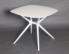 Mesa de comedor, madera, cuadrada, Paris, color blanco, 80*80 cm
