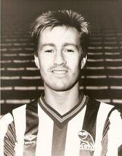 ORIGINALE stampa foto Sheffield Wednesday LEE CHAPMAN AGOSTO 1986