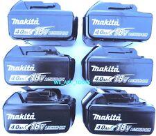 (6) NEW Makita BL1840B 18V GENUINE Batteries 4.0 AH W/ Fuel Gauge 18 Volt LXT