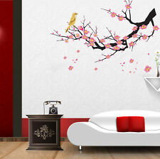 5700016 | Wall Stickers Flowers Pink Branch for Living Room Bird