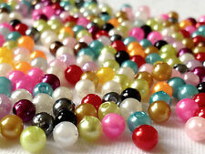 LOT OF 500 ASSORTED COLOUR ACRYLIC BEADS 5mm AB0112