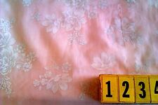 Cotton Fabric Pink Cream Floral Print - 150cm Wide - New by Dcf