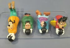 A Goofy Movie Toys Vintage 90s 4pc Lot Bowling Pull Back Disney Burger King Set