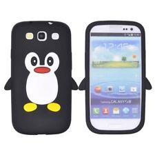 Samsung Galaxy S3 Soft Silikon Case Cute 3D Pinguin Form Schutz Hülle Schwarz