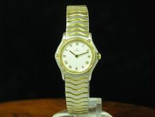 Ebel Classic Wave 18kt 750 Gold / Edelstahl Damenuhr / Ref 1057901