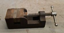 "Eron drill press machinist vise 2 1/2"" wide copper jaw lathe jewelery tool"