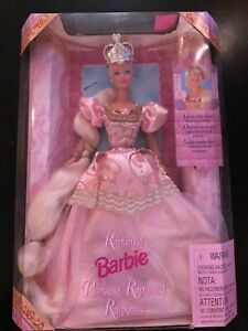 Rapunzel Barbie Fairy Tale Hair Crown Pink Princess 1997 RARE ENG SPANISH FRENCH