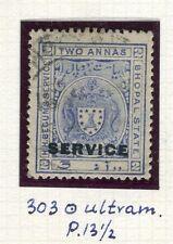 India Bhopal; 1908-11 servizio Optd. emissione fine utilizzato 2a. valore, PERF 13.5