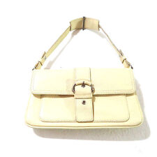 Ann Taylor Loft Yellow Leather Baguette Handbag 5x9