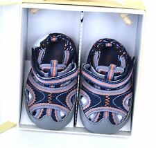 Robeez Mini Shoez Baby Boys Neptune Navy/Storm Sandal shoes size 2, 3-6 months