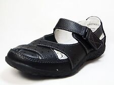 9567f7dc3309 Spring Step Streetwise Leather Sandals - Wide Width Black Size 37W (US 6.5-