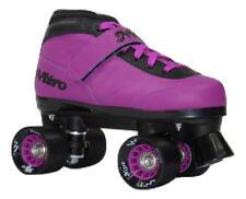 New! Epic Nitro Turbo Purple Quad Roller Speed Skates w/ Black & Purple Laces
