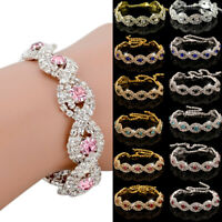Elegant Bracelet Fashion Crystal Rhinestone Infinity Bangle Deluxe Jewelry