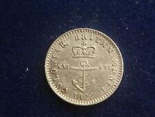 """1/4 Dollar Coloniar George IV. 1822 British West Indies """" Erhaltung """" W/18/614"""