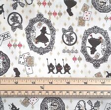 Kokka Japanese Fabric - Alice and Friends - Beige - 100% Cotton