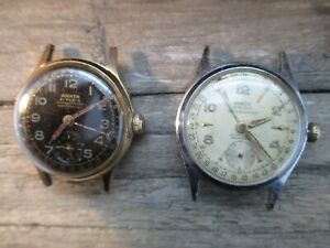 Konvolut ANKER Uhr, Uwersi 47/11, 21 Rubis, 50er Jahre HAU, an Bastler
