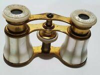 Vintage Paris Antique Mother of Pearl Binocular Opera Glasses Binoculars