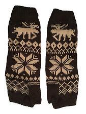 Women's Gloves Long Fingerless Mittens Christmas Gloves Winter Fair Isle