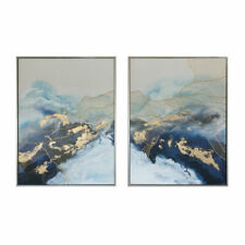 New Two Panels Framed Hand Painted Modern Abstract Oil Painting Canvas Wall