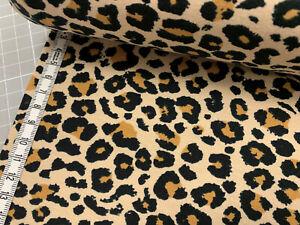 Jersey - Leopardenmuster - Leopard - beige/ocker/schwarz -