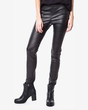 NWT $985 DIESEL BLACK GOLD 'Peghyns' Leather Pants in Black [SZ 44] #M748