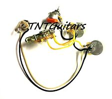 2V1T Two Pup Wiring Harness, 2Vol+1Tone, 3 CTS 500K Pots, 3W FENDER Blade Switch