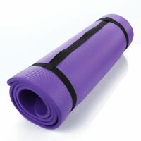 "NEW! 72"" x 24"" x 15 mm THICK SOFT YOGA EXERCISE MAT Anti-skid Pad purple"