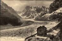 Chamonix France CPA ~1910/20 Mer de Glace et gare du Montenvers Bahnhof Eismeer