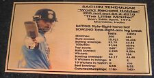 SATCHIN TENDULKAR Gold Plaque picture and stats new 150x80mm
