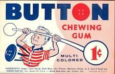 Vintage Button Cramer Gum Ball Machine Vending Display Card 60s NOS New