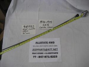 """JEEP CJ HEATER TEMPERATURE CONTROL CABLE 1972-75 CJ5 CJ6 BRAND NEW USA MADE 37"""""""