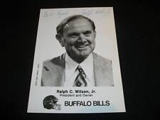 Bills Ralph Wilson Auto Signed 5x7 Vintage Photo JSA C