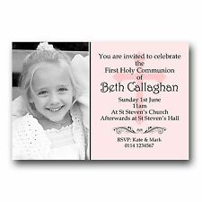 10 Personalised Invitations Invites 1st First Holy Communion H120 - Add a photo