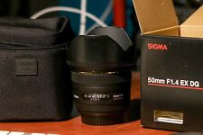 sigma 50mm F1.4 Ex DG Canon Mount  Excellent Condition