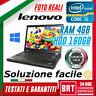 "PC NOTEBOOK LENOVO THINKPAD T410 14"" CPU INTEL i5 4GB RAM 160GB HDD WIN10 PRO!!"