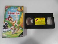 Bambi VHS WALT DISNEY los Big-Size First Edition IN Ovp Spanisch - 2T