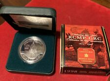 1998 (1873-) Canadian $1 RCMP Commemorative Sterling Silver Dollar Free Shipping