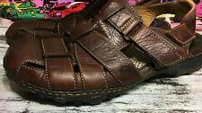 Born Brown Leather Buckle Comfort Casual Fisherman Sandals Men's US 13 / 47.5