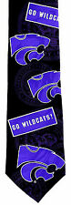 Kansas State Wildcats Mens Necktie University College Logo Silk Neck Tie New