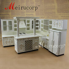 FINE Dollhouse 1/12 Scale Miniature furniture Perfect Handmade Gold Kitchen set