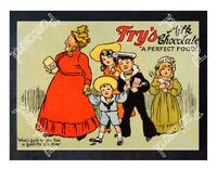 Historic Fry's Milk Chocolate Advertising Postcard 1