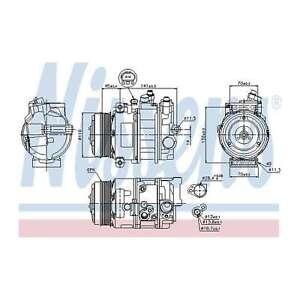 Fits Mercedes Viano W639 CDI 2.0 Genuine Nissens A/C Air Con Compressor