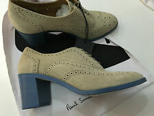Paul Smith Mujer zapatos Oxford con azul Tacón En Bloque UK5 EU38 Made in Italy