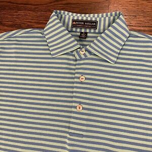 Peter Millar Summer Comfort Mens Golf SS Polo Shirt Sz Medium Stripes